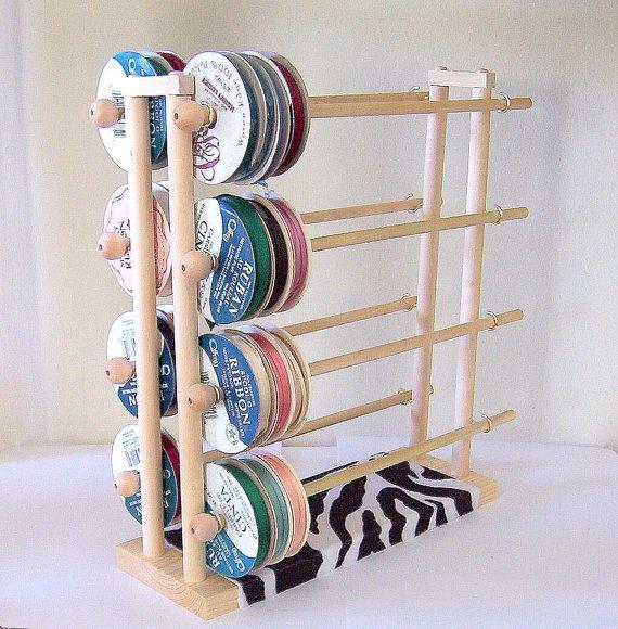 Super Ribbon Holder Storage Rack Organizer Holds 150 Spools...double decker