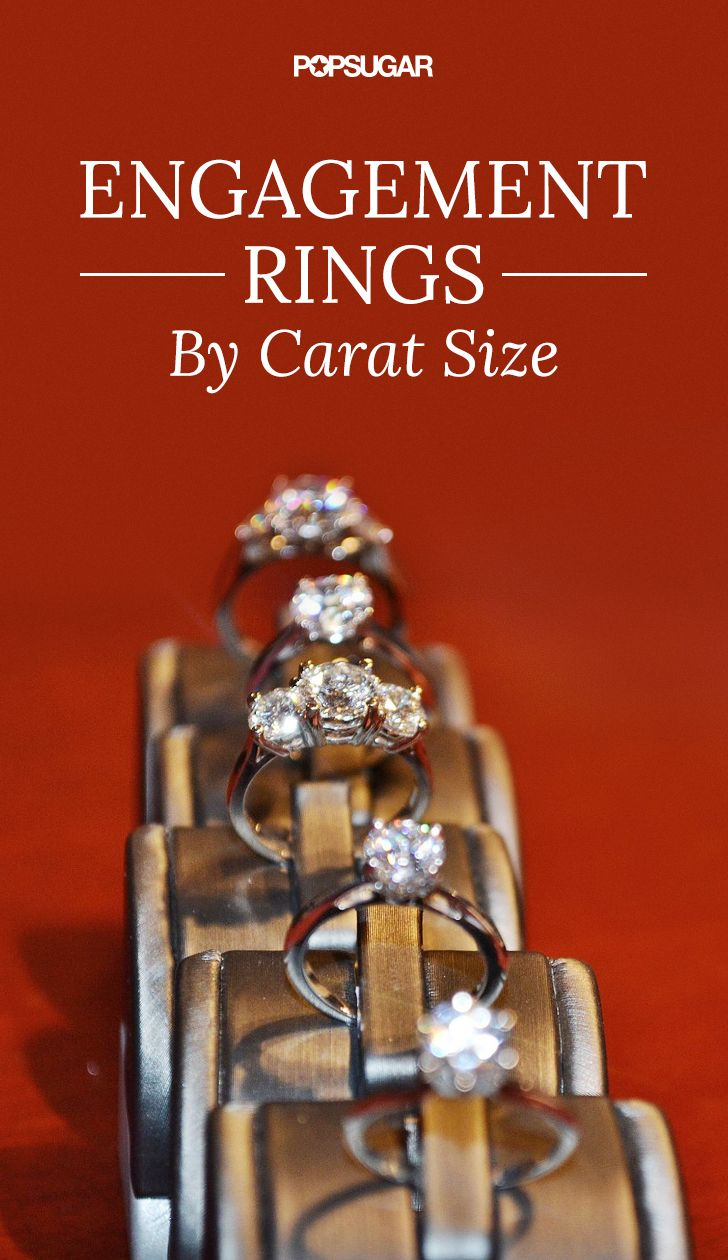 What different diamond carat sizes look like