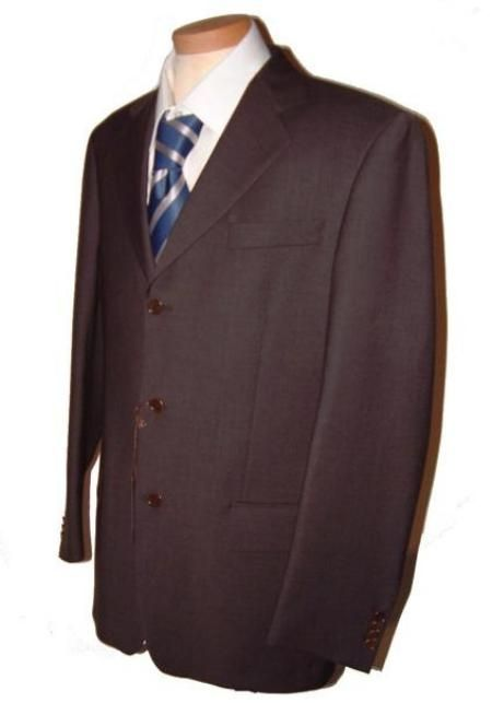 Dark CoCo Brown Men's Single Breasted Discount Dress 2or3or4 Button Suit $79