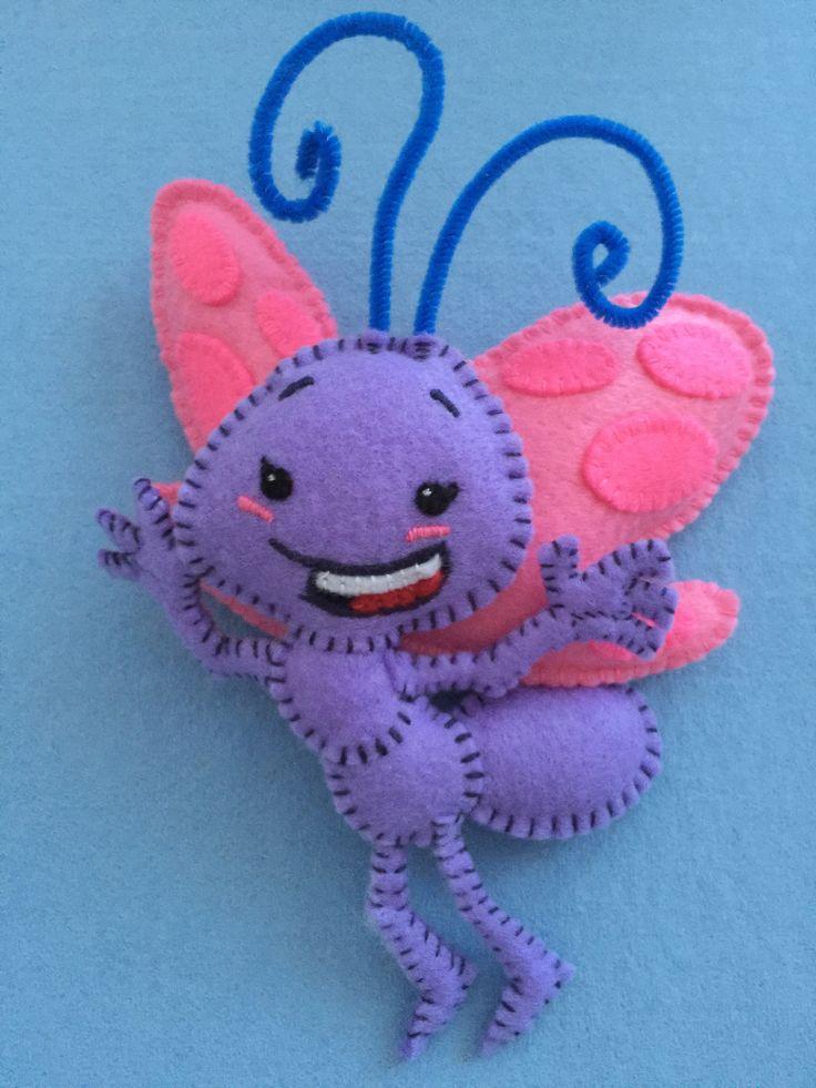 Lottie Dottie Chicken Lil' Butterfly (Hand-made with felt)