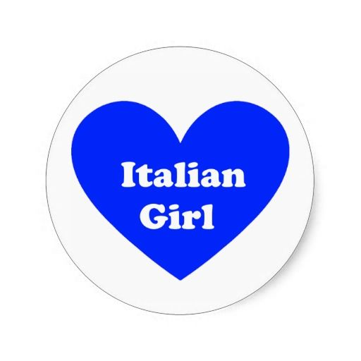 Italian Girl Round Sticker
