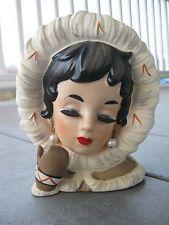 "Head Vase Inarco ""Costume Lady"" Eskimo Ladies Headvase K2060"