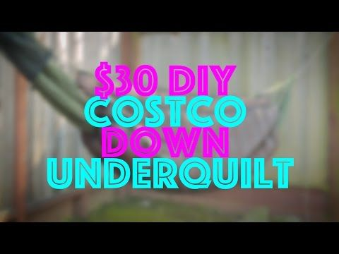 30 diy costco down hammock underquilt   youtube 16 best trekking gear images on pinterest   camp gear camping      rh   pinterest