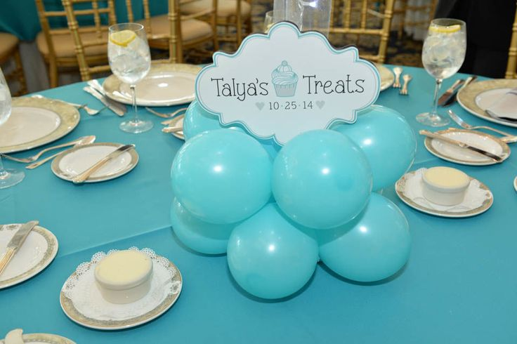 Tiffany Balloon Centerpiece Base with Custom Logo Cutout