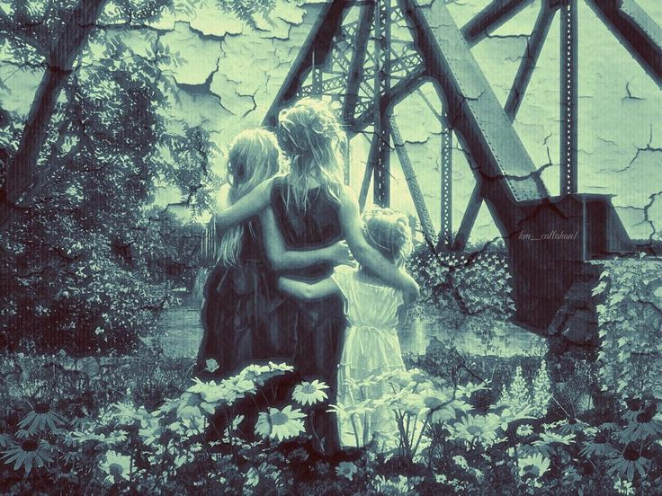 Sisters: Time may alter the momento but never the bond.  #pfarts_challenge095 Original photo by @md374 // Edit and concept is mine.  ALL stock used: Peeling paint texture  naldzgraphics.net; models and floral PNG elements from DA  falln-stock cactuskim cindysart-stock eirian-stock // apps used enlight picsart #icolorama colorburn snapseed // #surreal42 #friendsineditroom #pf_arts_ #ig_underground #tiltedvision #gallery_237 #cryptic_aesthetic #ig_asylum #the_great_gothic_world…