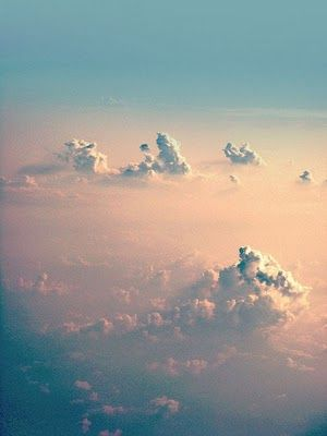 ethereal - sky blue clouds fog