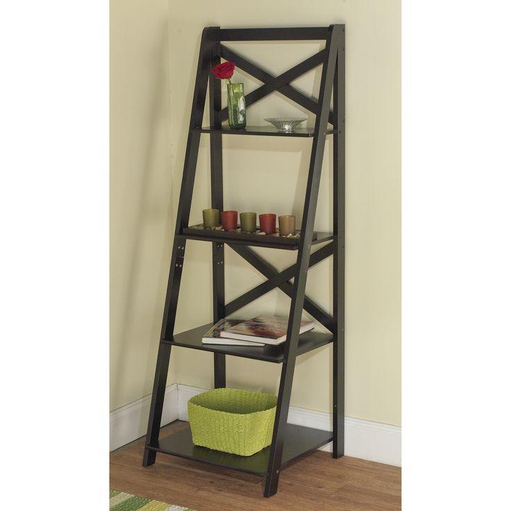 how to build a corner ladder shelf