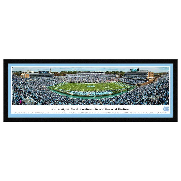 North Carolina Tar Heels Football Stadium Framed Wall Art, Multicolor