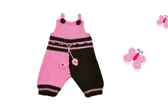 Baby Girl's Hand Knitted Body Suit 3-6 Months by miCalorKnits