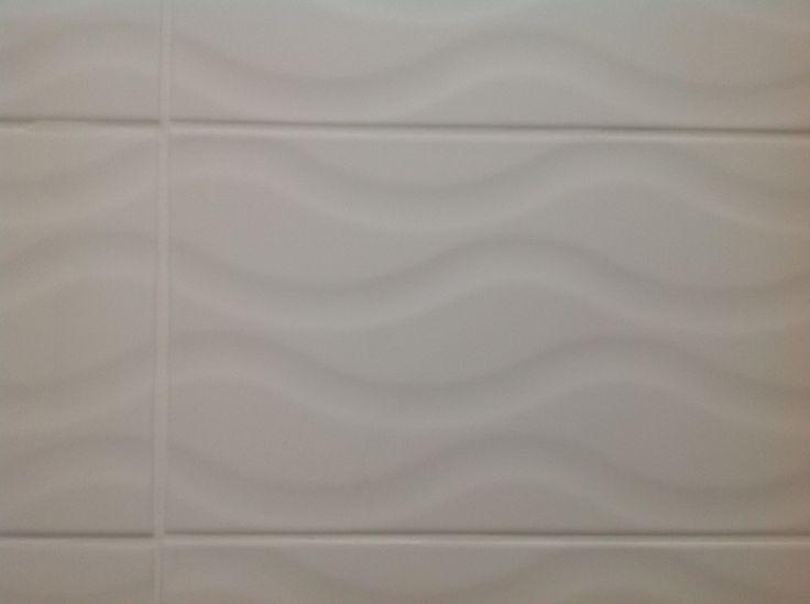 White wave pattern tile from Johnson tiles