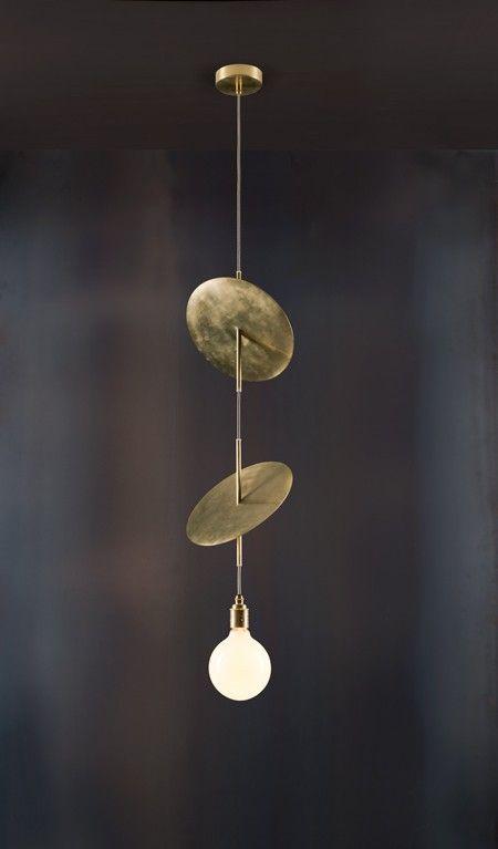 """Flipside"" - Brass, Balance, Lighting, Minimal, Decoration, Design, Modern."
