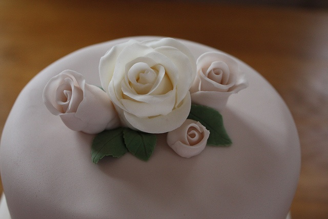 vintage rose toppers on 3 tier wedding cake   Flickr - Photo Sharing!