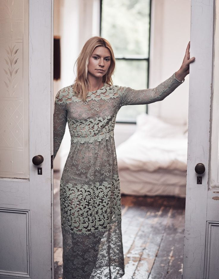 Claire Danes by Steven Pan for The Edit Magazine December 2015 - Burberry dress