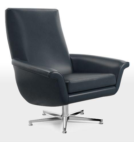 brogan leather swivel chair - Drehsthle Fr Wohnzimmer Zeitgenssisch