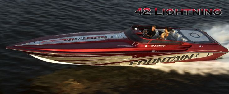 New 2012 Fountain Boats 42 Lightning High Performance Boat Photos-Giddy Up!