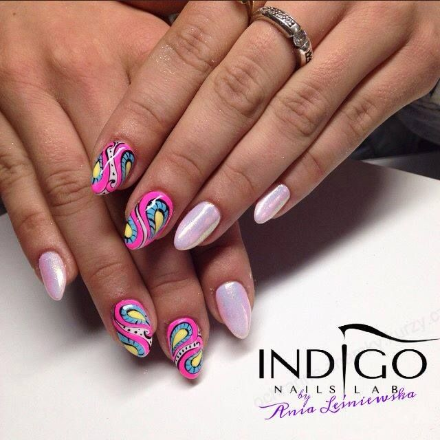 by Ania Leśniewska, Follow us on Pinterest. Find more inspiration at www.indigo-nails.com #nailart #nails #indigo #pastel #pink