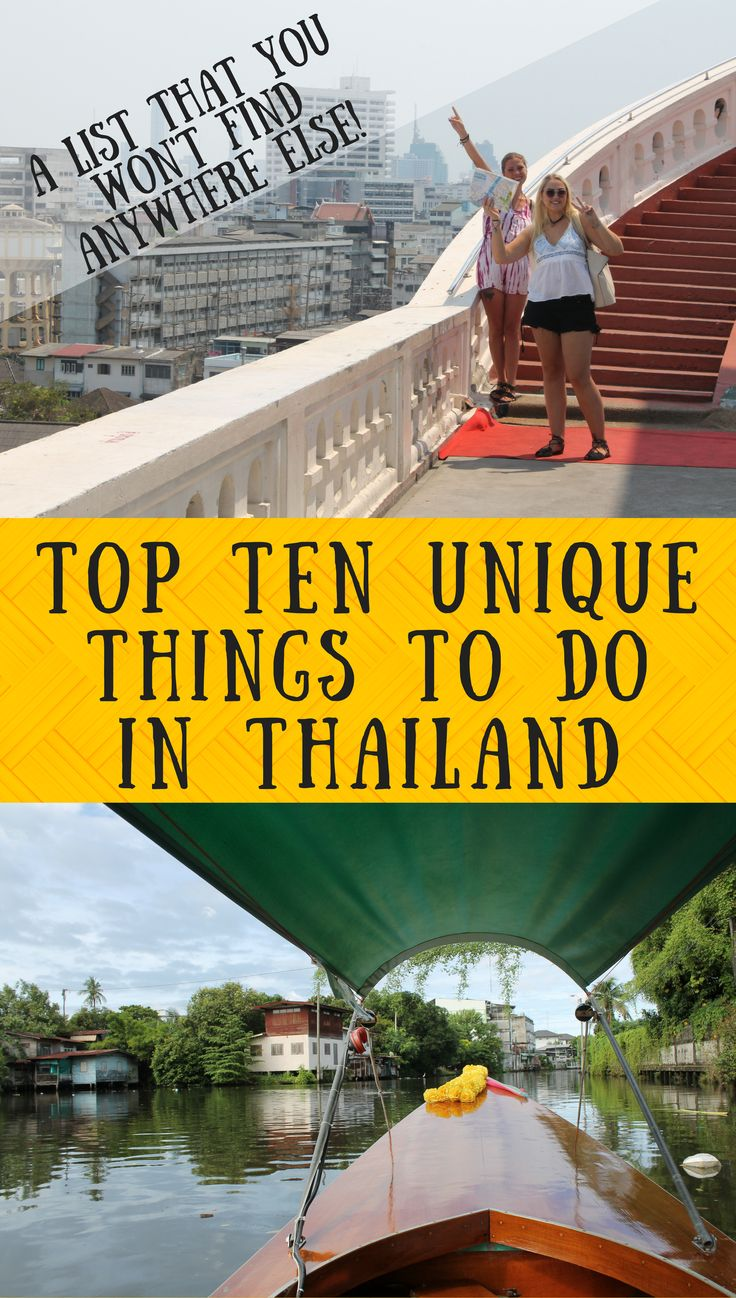 Thailand is becoming more & more popular. Read our tips on how to have a more authentic and unique experience in Thailand with our top ten unique recommendations. #thailand #bangkok #chiangmai #phuket