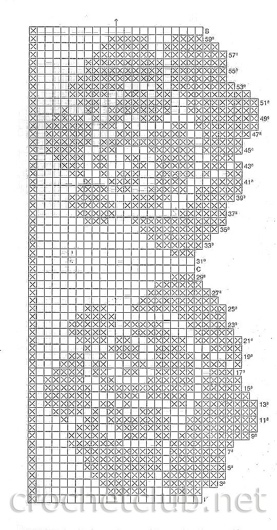This could be a fantastic filet crochet chart полотенце с розами 2