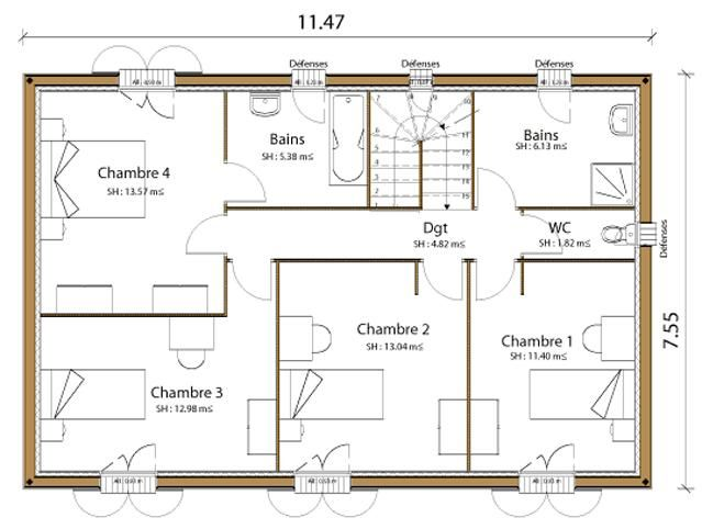 12 Le Plus Beau Plan Maison Moderne Gratuit Pdf Semi Contemporaine