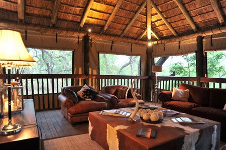 Guests can enjoy the wildlife exploring the surrounding lush vegetation from their own private game viewing deck