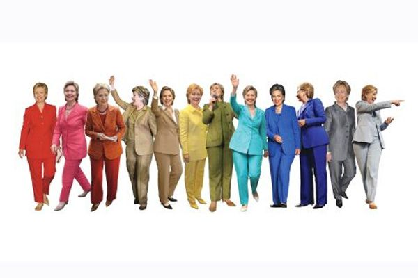 A Rainbow Of Hillary Clinton's Pantsuits - this made me laugh way too hard