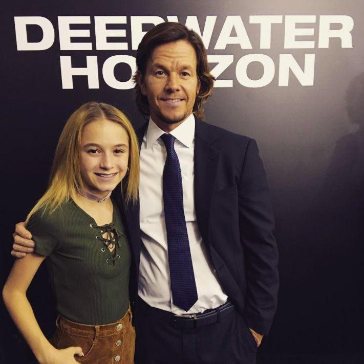 Mark Wahlberg Brings His 13-Year-Old Daughter Ella Rae to the Deepwater Horizon…