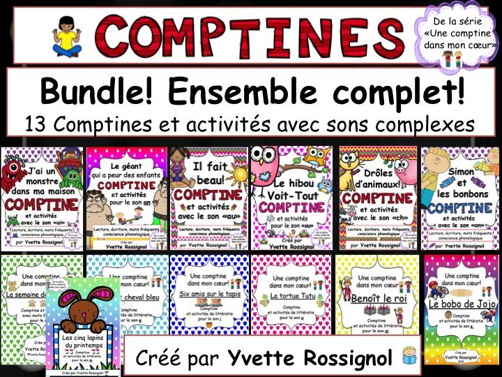 French immersion?? Here is your year long resource to teach sight words, rhyming, French phonics, reading strategies, etc. Integrates math problem solving also through simple stories full of sight words!