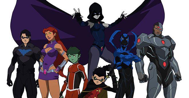 'Justice League vs Teen Titans' portada y tráiler de la nueva película de animación de DC' Comics