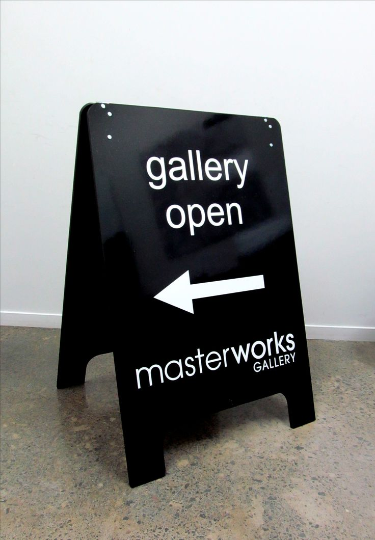A-Frame for Masterworks Gallery by Speedy Signs Newton