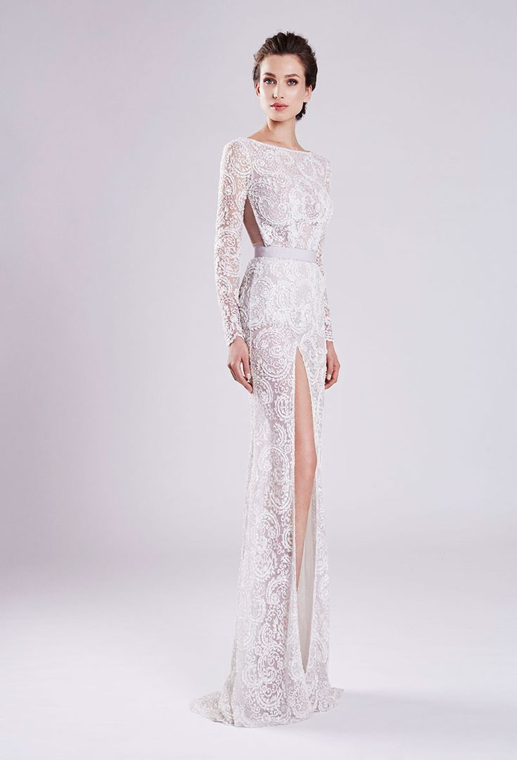 Fashion Friday: Otilia Brailoiu Atelier 2016 Collection | Lace | Beads | Sequins | Flowers | Petals | Asymmetrical Lines | Elegant | Sophisticated | Sheath Silhouettes | Embellishments | Inspiration | http://brideandbreakfast.hk/2016/12/02/otilia-brailoiu-atelier-2016-collection/