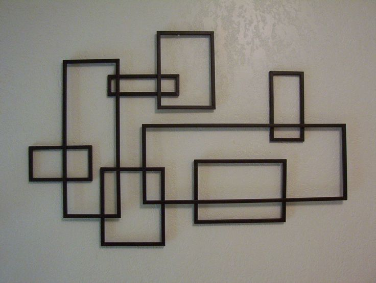 De Stijl inspired Mid-Century Modernistic metal wall sculpture