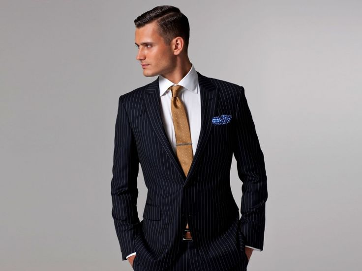 Vincero Navy Blue & White Pinstripe suit…Yes Please... | My Style ...