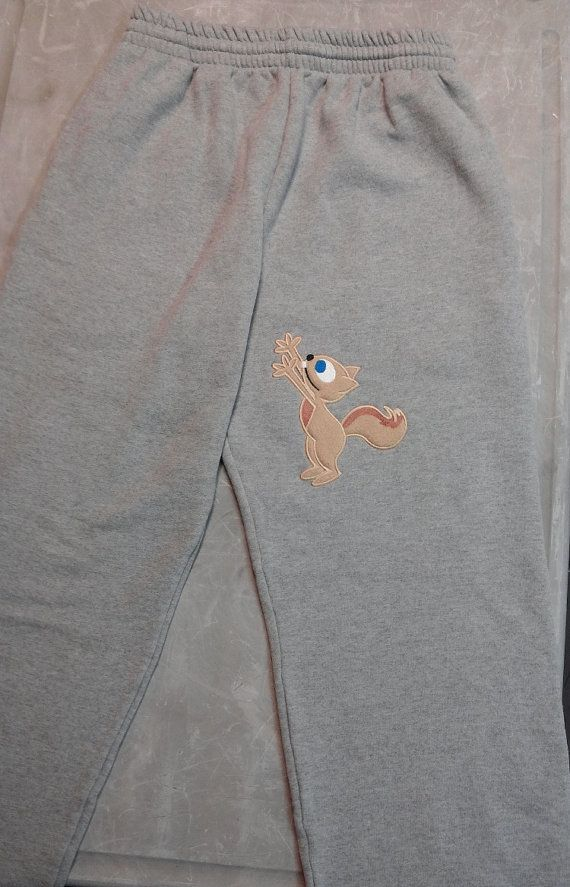 Squirrel Reaching Sweatpants for men Funny by 3starmilitarymom