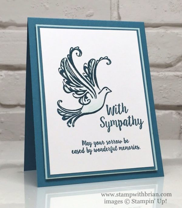 Nice Card Making Ideas Sympathy Part - 12: Handmade Sympathy Card ... Sentiment I Often Use ... Lv The Clean