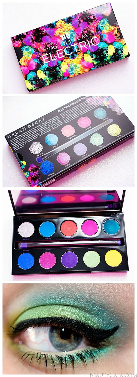 Urban Decay Electric Palette Swatches, Review, and Makeup Look @Urban Decay