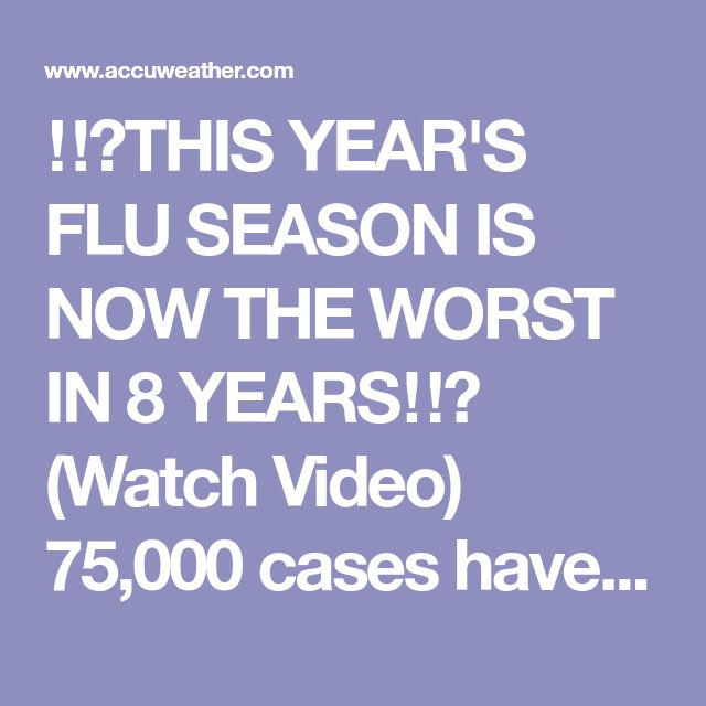 ‼️THIS YEAR'S FLU SEASON IS NOW THE WORST IN 8 YEARS‼️ (Watch Video) 75,000 cases have been confirmed, but the number is likely higher with most people not getting tested. The virus is now widespread in all but one state. Mt. Sinai Hospital Director of ER, Dr. Peter Shearer, gives some advice to help keep the virus out of your home.