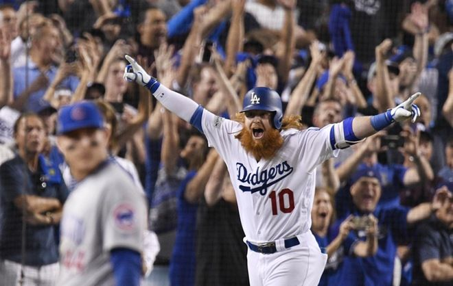 Former Cal State Fullerton infielder Justin Turner has been awarded National League Championship Series MVP honors after helping lead the Los Angeles Dodgers to their first World Series appearance since 1988 after a 3-1 series win over the Chicago Cubs.