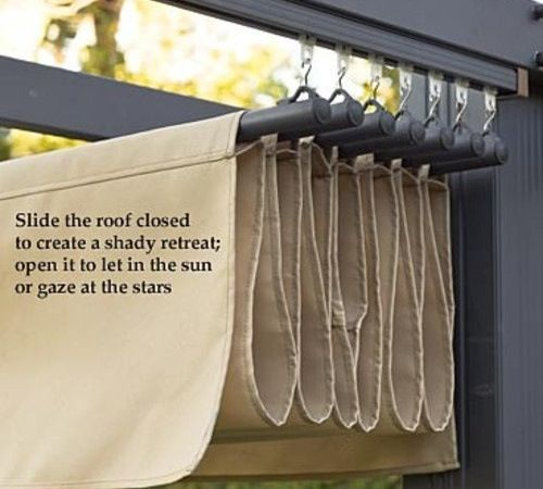 maybe even something like this with shower curtain rings for a retractable shade...discuss...