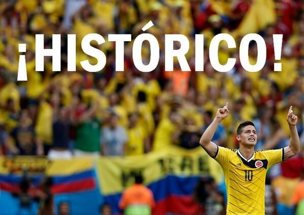 Proud of our 2014 colombia soccer team.