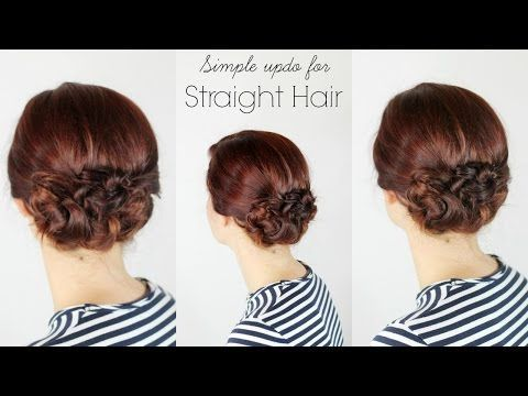 Updo for Straight Hair - Ma Nouvelle Mode #EverydayHairstyleTutorials