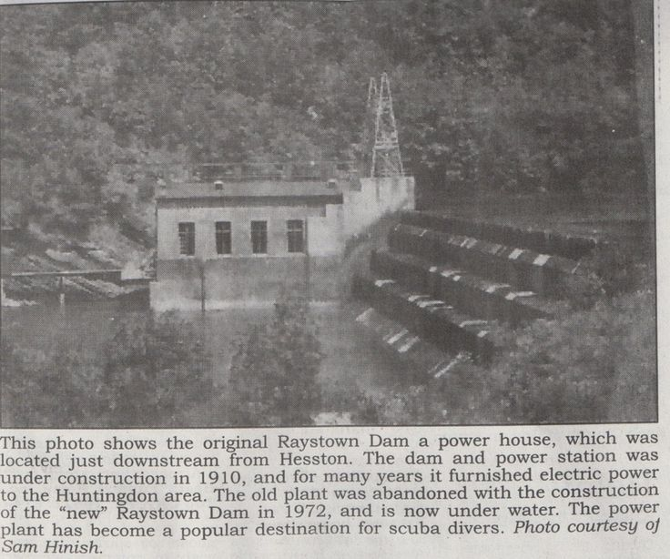 The Old Raystown Dam Huntingdon County Pa History