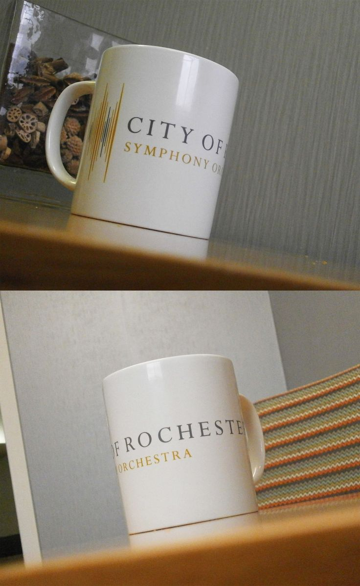 Have a look at these great City of Rochester Symphony Orchestra Mugs. For anyone who re-choirs a great mug with their tea! #promo #mugs #orchestra