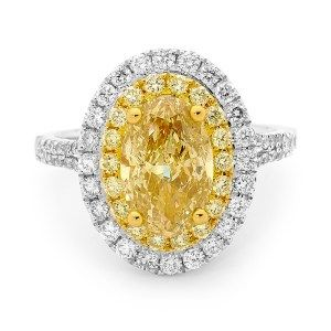 Yellow diamond halo Diamonds International Brisbane  # LoveDI #diamond #Engagement #Ring #oval #yellow #gold #halo #sparkle