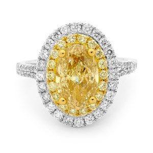 Yellow diamond halo Diamonds International Brisbane  # LoveDI #diamond #Engagement #Ring #oval #yellow #gold #halo #sparkle
