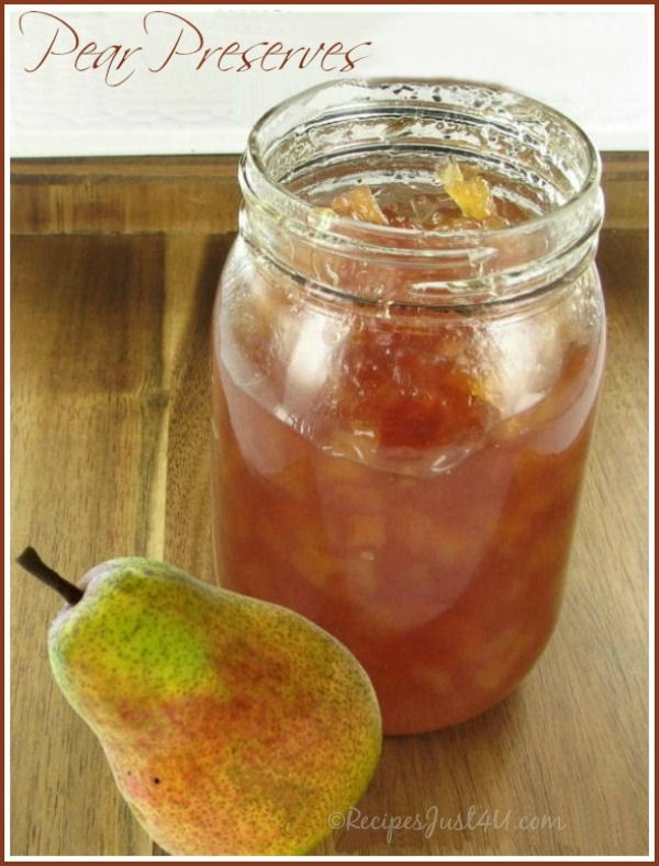 Pear preserves with Crystallized ginger