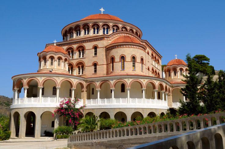 TRAVEL'IN GREECE I Monastery of Agios (Saint) Nektarios where he died in 1921 and in buried. Aegina island, #Attica, #Greece, #travelingreece