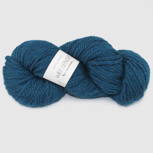 schoenstricken Alpakawolle Weissensee 209 Mittelblau