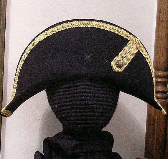 f4e0e8648e9 Bicorne with Gold Trim American Cocked Hat War of 1812