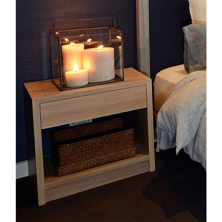 American Oak Bedside TableThe Block Shop - Channel 9