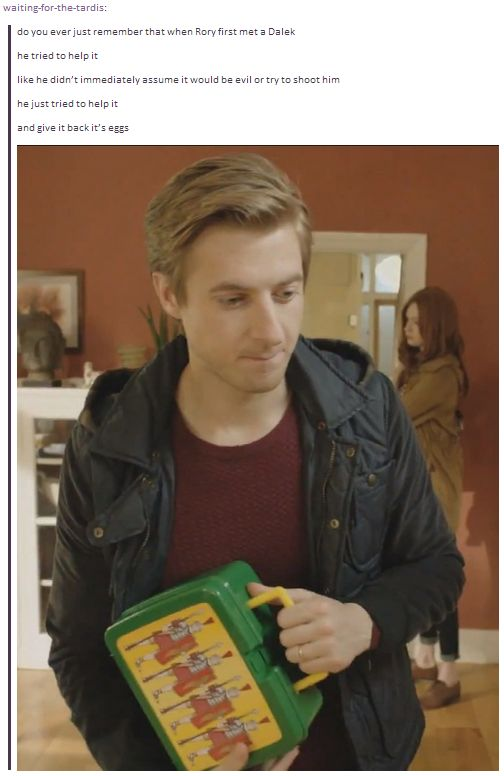 One of the many reasons I love Rory! (And, is that a lunchbox with Roman soldiers on it!?!) He is such a Hufflepuff